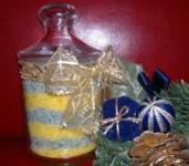 Zöld-sárga fürdősó ajándékba