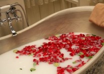 Kókusztej fürdő